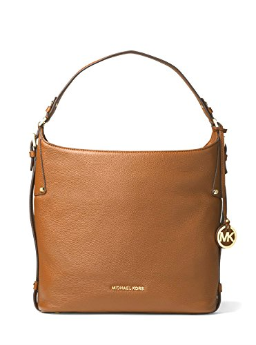 MICHAEL MICHAEL KORS Womens Bedford Large Leather Shoulder Bag Handbag (Luggage) by Michael Kors