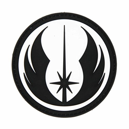 NEO Tactical Gear Star Wars Jedi Order Galactic Republic Patch - PVC Morale Patch, Hook Backed Morale Patch, Star Wars Morale Patch (Black & White)