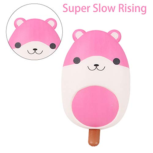 Nivalkid Mini Adorable Ice-lolly Kids Fun Stress Reliever Decompression Toy Simulation of Colorful Ice Cream Decoration Furnishings Props Children's Toys PU Fake Ice Cream Toys (B)]()