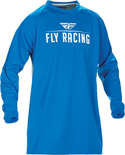 (Fly Racing Unisex-Adult Windproof Jersey Blue/Grey Small)