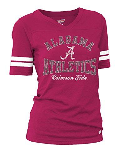 Soffe NCAA Alabama Crimson Tide Junior Classic College Basic Logo Tee, Large