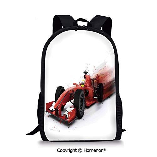 Red Black,design Kids Print Backpack Schoolbag Book Bag Teenagers(17.3