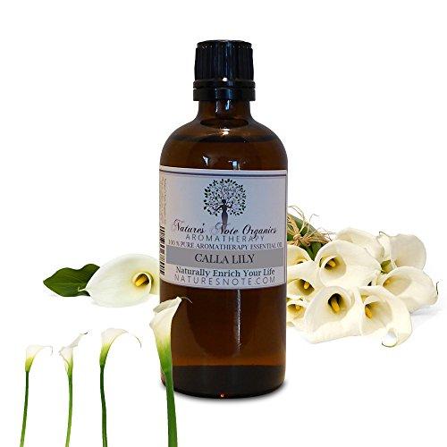Calla Lily - 100% Pure Aromatherapy Grade oil by Nature's Note Organics (1 oz.)