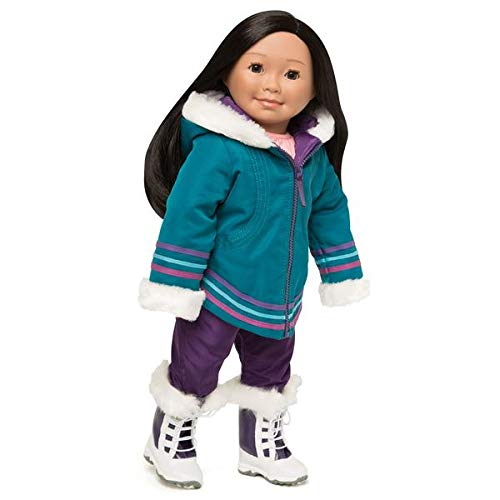 (Maplelea Aputi Parka - Traditional Inuit Parka, Snow Pants and Boots for 18 Inch Doll)