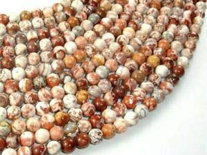 Mexican Crazy Lace Agate Beads, 6mm Round Beads, 15 Inch (202054021) Crafting Key Chain Bracelet Necklace Jewelry Accessories Pendants