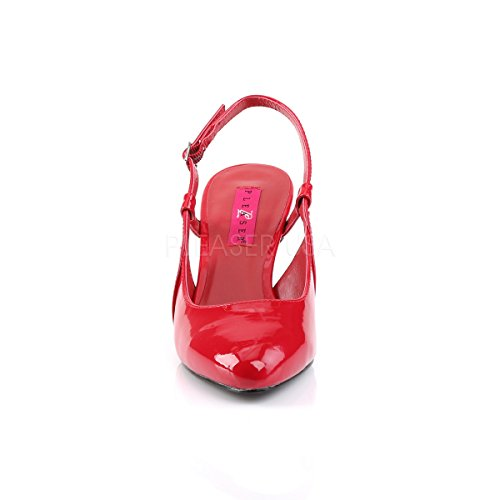 418 Red Label Slingback Pleaser Pink Higher Heels Patent Patent Size Womens Red Shoes Plus Court Divine qXvzqwn