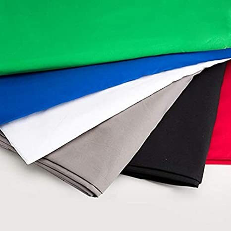 Green Screen Photography Backdrop Polyester Cotton White Black Blue Solid Color Photo Background Thicken Backdrops Cloth