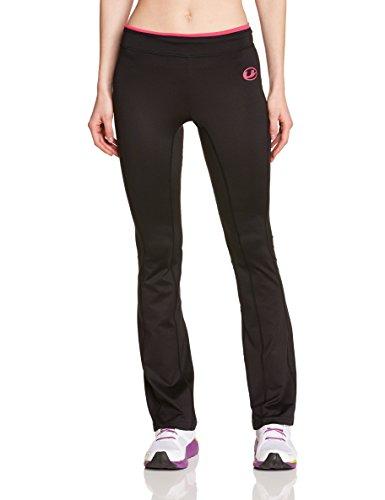 Ultrasport Damen Fitnesshose Long, black/pink, XL, 10304
