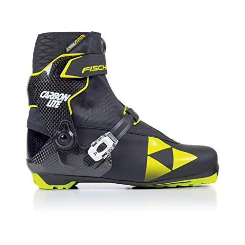 (Fischer Men's RCS Carbonlite Skate Boots Black/Yellow -)