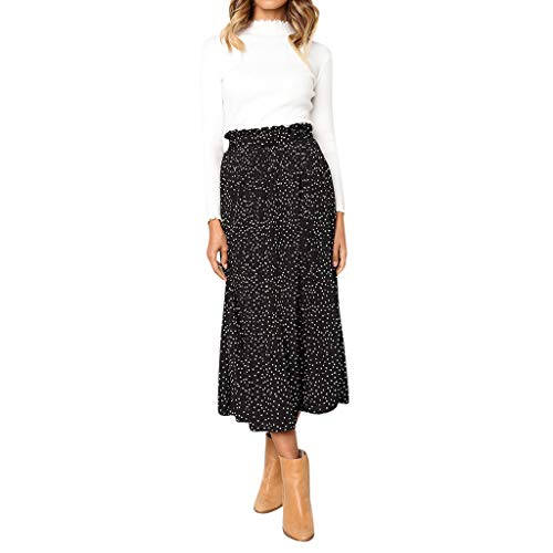 Women Casual Retro High Waist Floral Maxi Dress Print Skirt