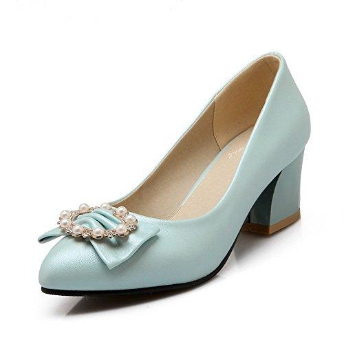Blue BalaMasa Soft Womens Shoes Material Bead Pumps Bead ZqUZ0