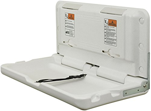 ECR4Kids Horizontal Fold Down Commercial Baby Diaper Changing Station, White Granite