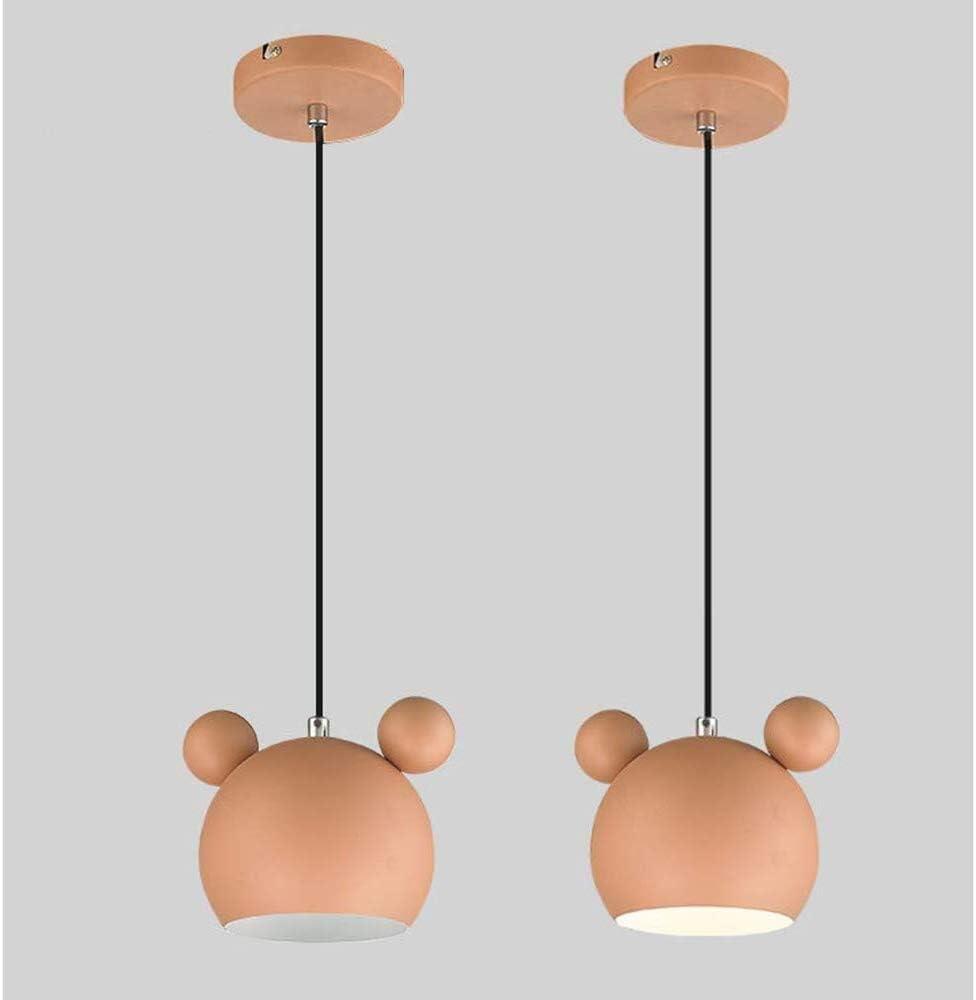 GaLon Sospensione Nordic Ferro Battuto Lampadario del Fumetto del Mouse di Illuminazione Sveglio del soffitto dello Schermo for Bambini Camere sospeso Regolabile in Altezza E27 Color : Gray