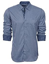 British Invasion Mens Button Front Long Sleeve Shirt
