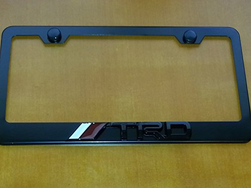 Amazon.com: TRD Black 3D Metal License Frame With Screw Caps Included:  Automotive