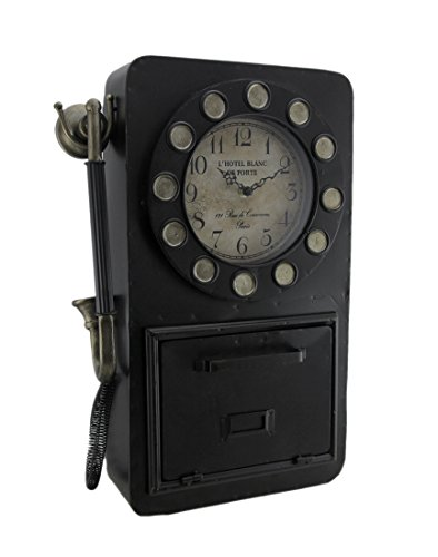 (Your Heart's Delight Your Vintage Phone with Key Compartment Wall Clock, One Size, Multicolor)