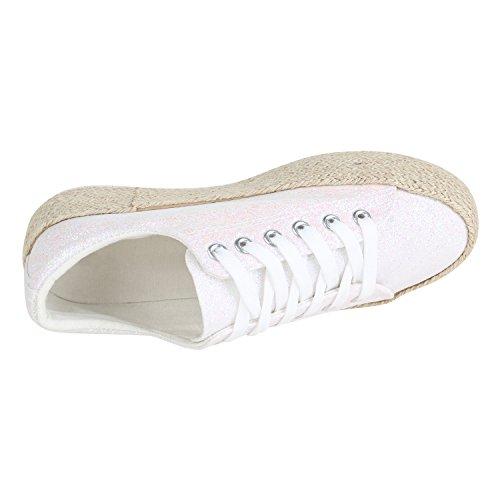 ac66fb2139afc7 ... Stiefelparadies Damen Plateau Sneaker Prints Metallic Plateauschuhe 90s  Look Sneakers Stoffschuhe Schnürer Prints Blumen Lack Glitzer