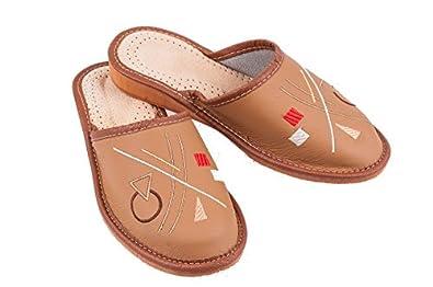Ladies Women 100%  leather slippers indoor outdoor comfy Size  UK 4 5 6 7