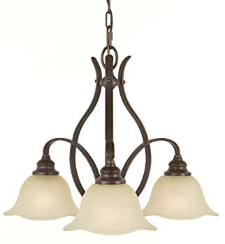 Murray Feiss F2049/3GBZ, Morningside Kitchen Chandelier,3 Light, 300 Watts, Grecian Bronze