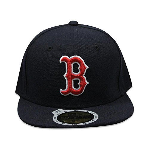 New Era Boston Red Sox Youth Auth Collection 59FIFTY Fitted Hat - Navy