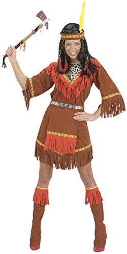 (Ladies Indian Woman Costume Medium Uk 10-12 For Wild West Cowboy Fancy)