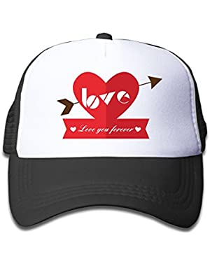 Love You Forever Geometric Baby AdjustableTrucker Visor Cap Cute Hat