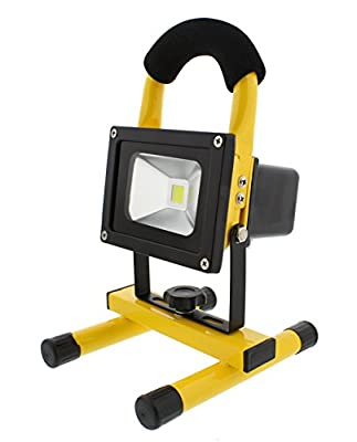 ABN LED Flood Light - Indoor/Outdoor, Rechargeable Portable Job Site Work Light