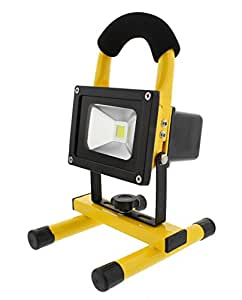 ABN LED Flood Light 10 Watts 900 Lumens 12V Indoor/Outdoor IP 65 Waterproof Rechargeable Portable Job Site Work Light