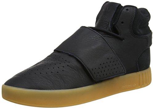 adidas Men's Tubular Invader Strap Hi-Top Trainers Black (Core Black/Gum/Footwear White) xkTj9