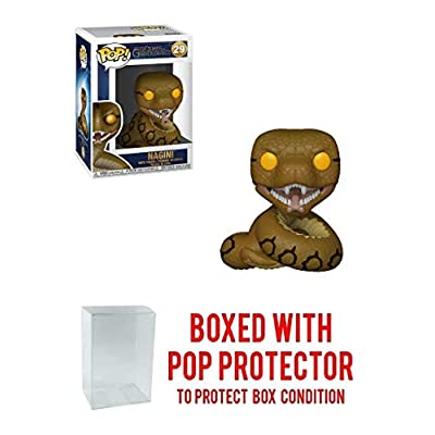 Funko Nagini: Fantastic Beasts - The Crimes of Grindelwald x POP! Vinyl Figure & 1 POP! Compatible PET Plastic Graphical Protector Bundle [#029 / 36150 - B]: Toys & Games