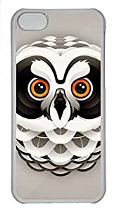 LJF phone case Skin Case for iphone 5/5s Plastic Case Back Cover for iphone 5/5s With Cool Owl