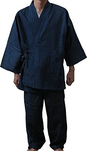 - Edoten Men's Japan Kimono Denim Samue NV M