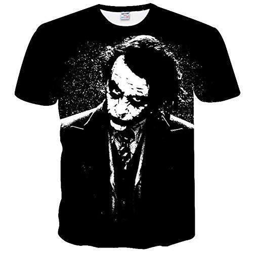 9Yourtime Women Men Dark Knight Joker Face Print T Shirt