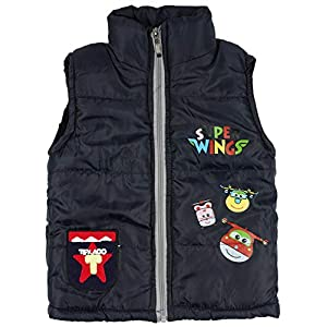 ICABLE Baby Boys Sleeveless Quilted Jacket with Soft Inner (Black, 2-3 Years)