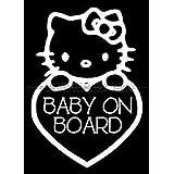 Hello Kitty Baby on Board Die Cut Vinyl Car Decal Wall Sticker