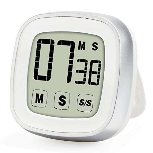 Upgraded Novelty Touch Screen Digital Kitchen Timer, Large - Japanese Talking Watch