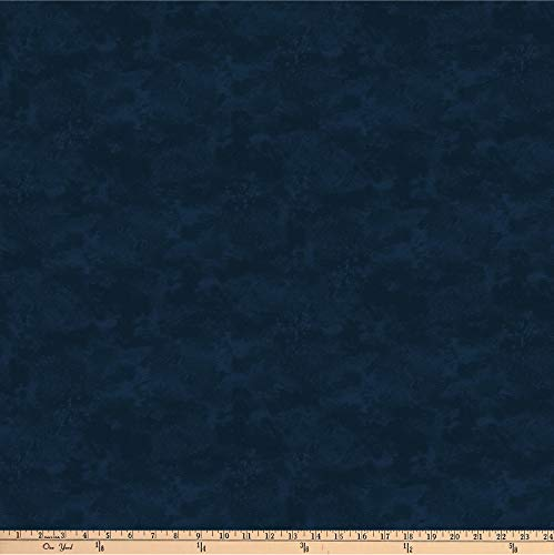 Fabric Northcott Flannel (Northcott Toscana Flannel Wide Backing Navy Fabric by The Yard)