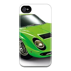 "Iphone 4/4s Case Bumper Tpu Skin Cover For Bertone Lamborghini Miura P400 S '1969a€""71 Accessories"
