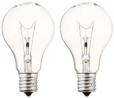 Sylvania 16069 Incandescent 60w A15 Clear Fan Lamp Intermediate Base 120v (2 Pack)