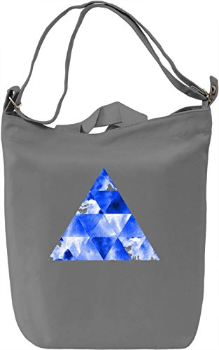 Blue Triangle Borsa Giornaliera Canvas Canvas Day Bag| 100% Premium Cotton Canvas| DTG Printing|