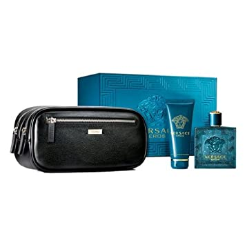 Amazon.com : Versace Eros Men's Gift Set - 3.4 oz EDT Spray, 3.4 ...