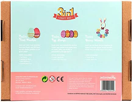 Easter 3-in-1 Great Easter Basket Stuffers for Children Ages 5-10 jackinthebox Easter Craft Toy for Kids Perfect Festive Gift for Girls and Boys Learning Stem Toys