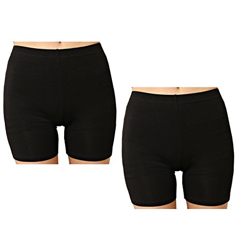 Liang Rou Women's Ultra Thin Stretch Short Leggings Plain Black XS