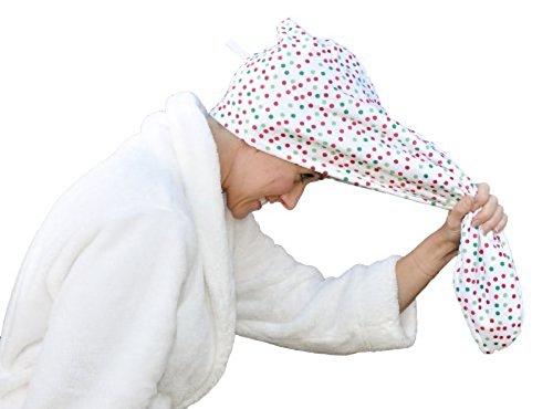 Turbie Twist Microfiber 3 Pack Multidot pattern hair Towels