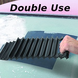 2 in 1 Winter Car Accessories Tire Traction Mats as Recovery Boards Ideal to Unstuck Your Car from Snow Mud Sand and Car Windshield Snow Ice Scraper 1 Piece Ice Traction Mat /& Ice Scraper for Car