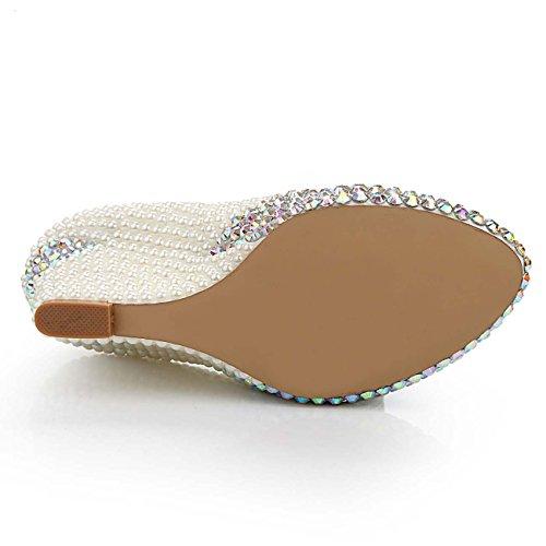 Zapatos Zapatos A Aumentados Cuñas Zapatos De Zapatos Perla Discotecas Bajos Mujer GONGFF q1z7Z