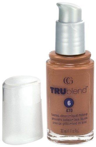 CoverGirl TruBlend Liquid Makeup Foundation, Toasted Almond 470 1 fl oz (30 ml)