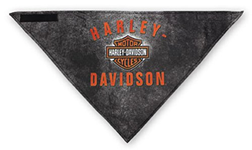 Harley-Davidson Men's 3-In-1 Convertible B&S Rockers Bandana, Black (Harley Davidson Convertible)