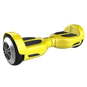 M MEGAWHEELS Scooter-Patinete Eléctrico Hoverboard, 6.5 Pulgadas con Bluetooth - Motor eléctrico 500w, Velocidad 10-12 Km/h.(Yellow) …