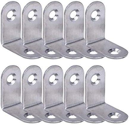 argent SUPERTOOL Lot de 10 /équerres de fixation en acier inoxydable 20 x 20 mm//25 x 25 mm//30 x 30 mm//40 x 40 mm Argent/é